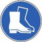 Gebotszeichen: Fußschutz benutzen!